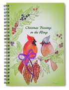 Cardinals Painted By Marcie Taylor  Spiral Notebook