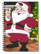 Cardinals Santa Claus Spiral Notebook