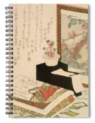 Cards Fukujuso Flowers And Screen Spiral Notebook