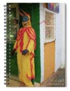 Careta Hombre Spiral Notebook