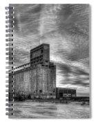 Cargill Sunset In B/w Spiral Notebook