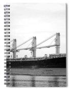Cargo Ship On River Spiral Notebook