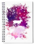 Caribou Winter Art Spiral Notebook
