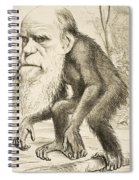 Caricature Of Charles Darwin Spiral Notebook