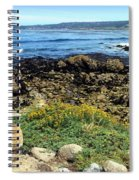Carmel Beach At Low Tide Spiral Notebook
