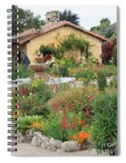 Carmel Mission Courtyard Garden Spiral Notebook