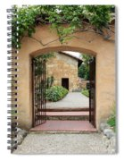 Carmel Mission Path Spiral Notebook