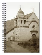 Carmel Mission  With The New Peaked Roof  1884 Spiral Notebook