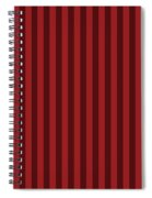 Carmine Red Striped Pattern Design Spiral Notebook