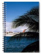 Carnival Docked At Grand Cayman Spiral Notebook