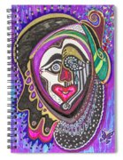 Carnival Face Spiral Notebook