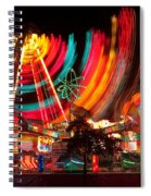 Carnival In Motion Spiral Notebook