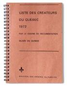 Carole Spandau Archived Liste Des Createurs Du Quebec 1972 Spiral Notebook