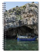 Caroline Cave And Maltese Traditional Boat Spiral Notebook