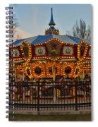 Carousel At Dusk Spiral Notebook