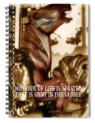 Carousel Color Quote Spiral Notebook