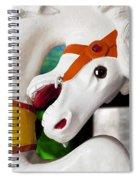 Carousel Horse 3 Spiral Notebook
