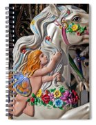 Carousel Horse And Angel Spiral Notebook
