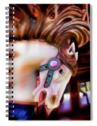 Carousel Horse Portrait Spiral Notebook