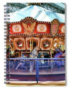 Carousel Inside The Mall Spiral Notebook
