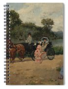 Carriage Ride By The River Spiral Notebook