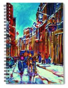 Carriage Ride Through The Old City Spiral Notebook