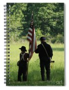 Carrier Of The Flag Spiral Notebook