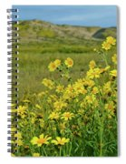 Carrizo Plain Yellow Daisies Spiral Notebook