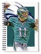 Carson Wentz Philadelphia Eagles Oil Art Spiral Notebook