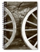 Cart Wheels Spiral Notebook