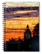 Cartagena Colombia Night Skyline Spiral Notebook