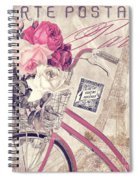 Carte Postale Bicycle Spiral Notebook