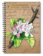 Carte Postale. Blossoming Apple Spiral Notebook