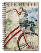 Carte Postale Vintage Bicycle Spiral Notebook