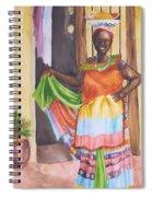 Cartegena Woman Spiral Notebook
