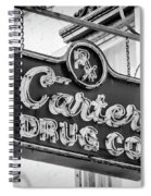 Carter Drug Co - Bw Spiral Notebook