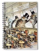 Cartoon: Anti-trust, 1889 Spiral Notebook
