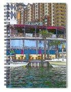 Cartoon Boats Spiral Notebook