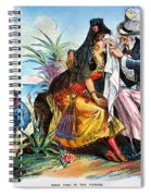 Cartoon: Cuba, 1895 Spiral Notebook