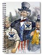 Cartoon: New Deal, 1933 Spiral Notebook