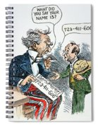 Cartoon: New Deal, 1935 Spiral Notebook