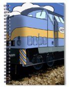 Illustrated Train Spiral Notebook