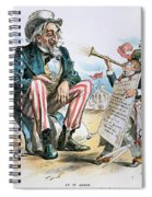 Cartoon: Uncle Sam, 1893 Spiral Notebook