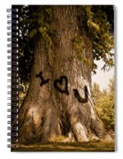 Carve I Love You In That Big White Oak Spiral Notebook