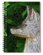 Carved Dogs Head Spiral Notebook