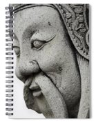 Carved Monk Statue Spiral Notebook