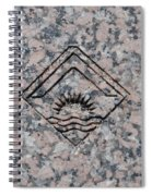 Carved Sunset Spiral Notebook