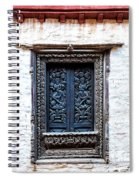 Carved Window Shutters Spiral Notebook