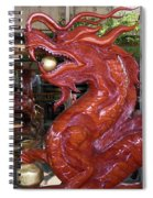 Carved Wood Dragon With Ball In Mouth Spiral Notebook