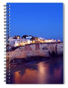 Carvoeiro In The Algarve Portugal At Night Spiral Notebook